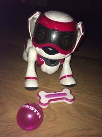 Teksta Robotic puppy pink.