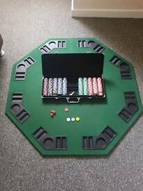 Poker set Foldable Table Almunium Case