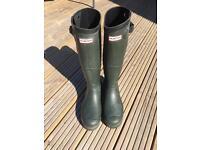 Hunter Balmoral Wellington boots / Wellies size 10 UK 44 EU
