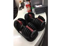 NEW Boxed Bowlex Style 5-52lb 2-24kg adjustable dumbbells weights selectable