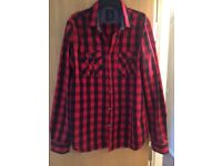 Size L slim fit men's checked shirt, worn a handful of times so in good condition