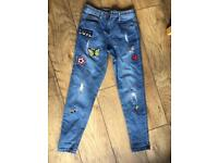 Girls Jeans Age 10/11