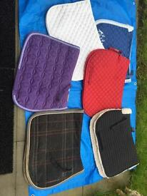 Variety of full size numnahs/saddle cloths