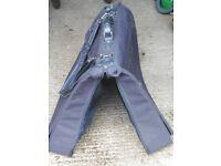 Black folding suitcase never used