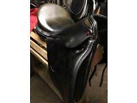 Albion SLK type 17.5'' M Dressage Saddle Black Good Condition