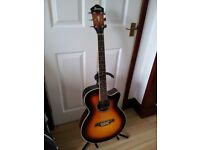 Electro acoustic guitar and hard case