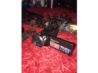 Panasonic Full HD Camcorder, like new with SD card