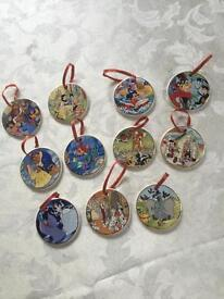 DISNEY Animated Classics - 11 China Hanging Ornaments - (I Will Sell Separately)