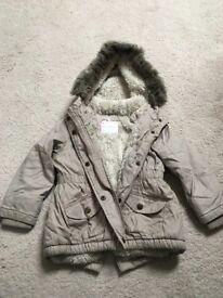 Girls Beige Coat 2-3 years