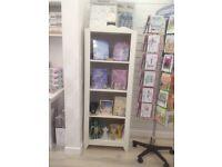IKEA shelving unit white bookcase kids room book shelf