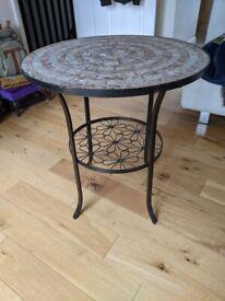 Removable mosaic round floral coffee table HARROW EDGWARE SUDBURY HILL