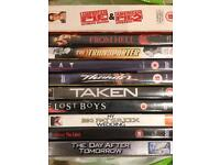 Ten DVDs for sale