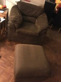 Armchair and Footstool for Sale