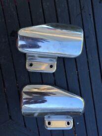 Suzuki TL1000R pillion foot rest heat shields in ezcellent condition