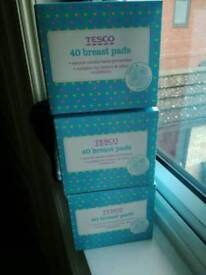 Tescos 3 boxes of breast pads