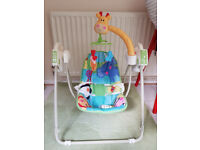 Fisher Price Rainforest Baby Swing (Batteries Included)