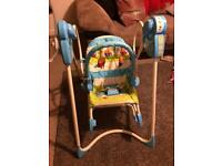 Fisher price musical swing