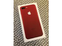 APPLE iPhone 7 Plus + FACTORY UNLOCKED Red limited edition 128GB Apple warranty