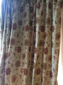Heavy lined Dunhelm Mill Curtains