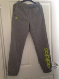 Grey adidas track suit bottoms