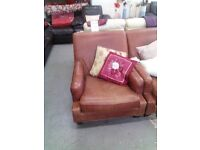 Brown leather armchair REF:GT061/GT062
