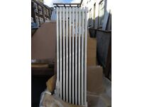 designer radiator, traditional cast iron type, 10 x 3 column, 1500x470mm white