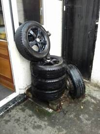 Transit Connect alloys and tyres