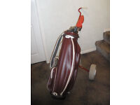 Set of Ladies Golf Clubs, Bag and Trolley - all in good condition