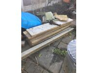 *FREE* concrete sleepers, paving slabs and rubble