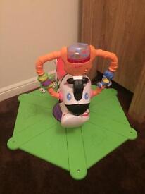 Toddler Trampoline & Bounce & Spin Zebra