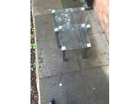 Three glass tables only £45