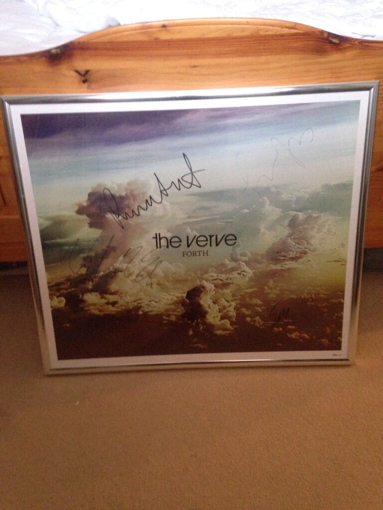 The Verve Richard Ashcroft Rare Signed Album Framed Print 84/135
