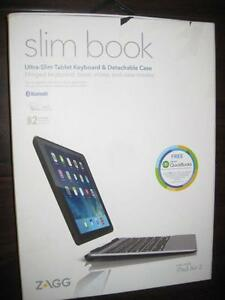 Zagg slim book. Ultra-Slim Apple Ipad Air 2 Keyboard & Detachable Case. Bluetooth. Rechargeable. Backlit Keys. Like NEW