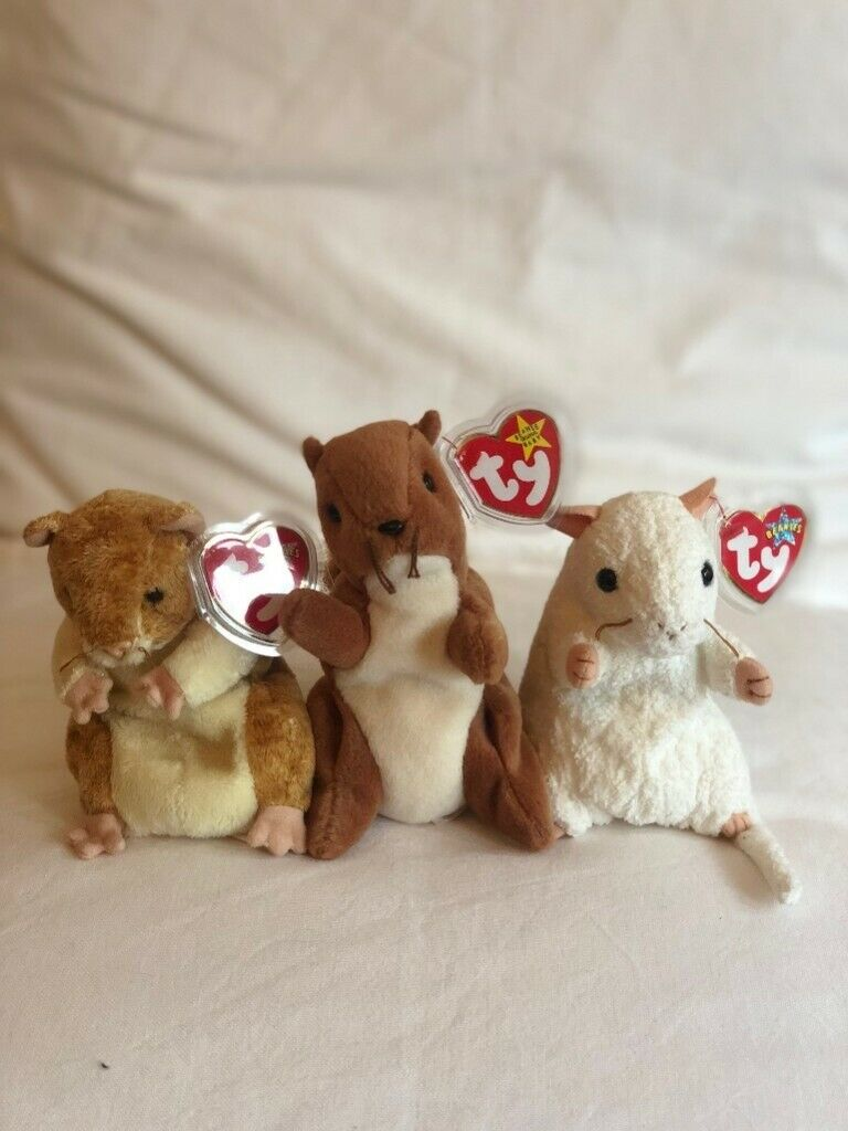 PELLET the Hamster 2000 Ty Beanie Babies  Plush Stuffed  Animal Toy New