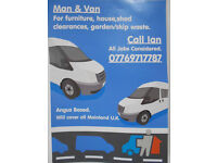 man and van,angus based but cover all uk