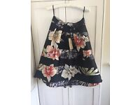 Coast Black Floral Skirt Size 14 New with Tags