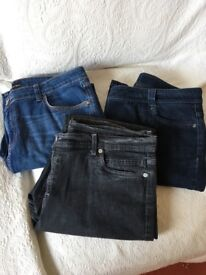 3 pairs of women's jeans