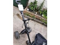 Mocad Folding Electric Golf Trolley, Storage Bag, Battery & Charger.