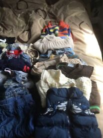Huge bag baby boys clothes 6/12 months