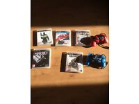 2 wired PlayStation 3 controllers and games bundle CHEAP!!