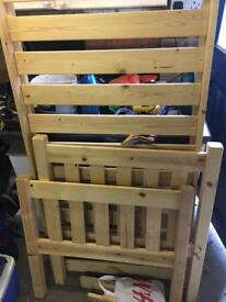 Pine toddler bed frame