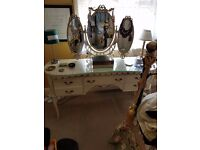 Dressing table large cream louis style