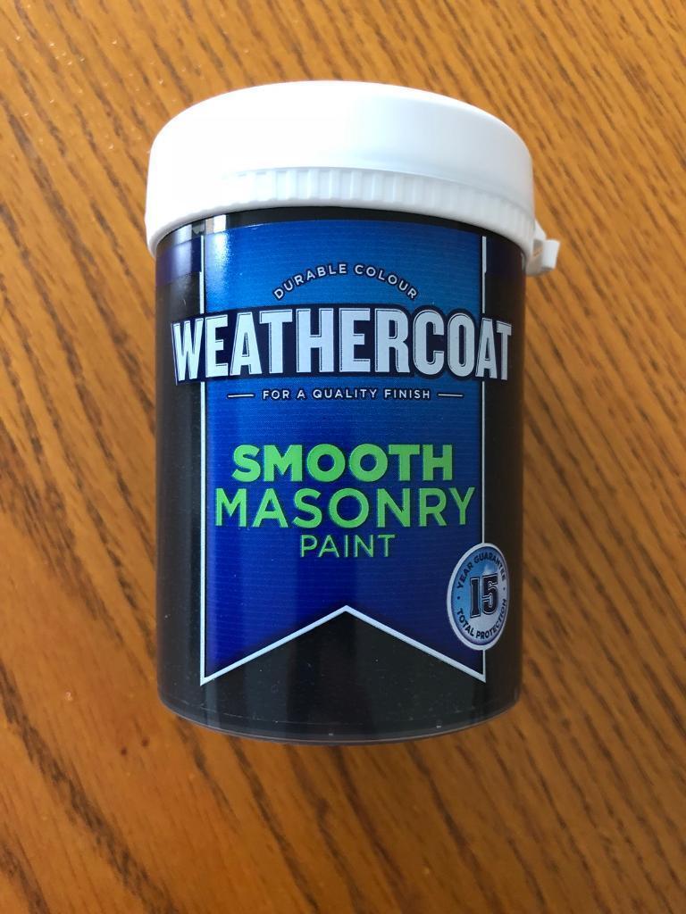 2 black masonry paint 225ml £2 each