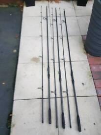3 xFox Warrior Z 12ft 3lb TC rods