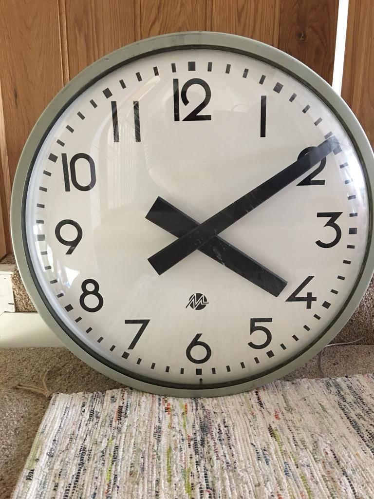 cf712bfd622f Double faced large industrial factory clock Metz | in Swansea | Gumtree