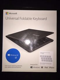Microsoft Universal Foldable Bluetooth Keyboard for iPad iPhone Android Windows