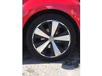 Red Volkswagen Beetle 1.2, PETROL design tsi, excellent condition - £12,995
