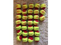 31 pressureless red tennis balls