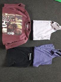 Mens bundle. Formal + casual long + short sleeved shirts. T shirt + jumper. 9 items