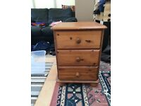 Pine Bedside Table Only £10